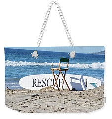 Lifeguard Surfboard Rescue Station  Weekender Tote Bag