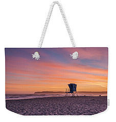 Lifeguard Tower Sunset Weekender Tote Bag