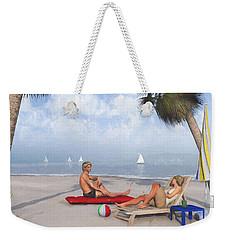 Weekender Tote Bag featuring the digital art Life's A Beach by Jayne Wilson