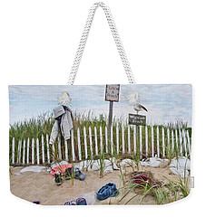 Weekender Tote Bag featuring the photograph Life's A Beach by Robin-Lee Vieira