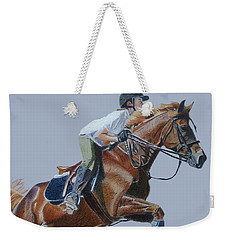 Horse Jumper Weekender Tote Bag by Patricia Barmatz