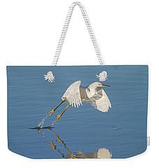 Lift Off- Snowy Egret Weekender Tote Bag