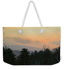Weekender Tote Bag featuring the photograph Lifting Storm At Evening by Michael Friedman