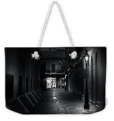 Light Along The Church In Black And White Weekender Tote Bag