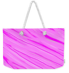 Light And Dark Pink Swirl Weekender Tote Bag by Linda Velasquez