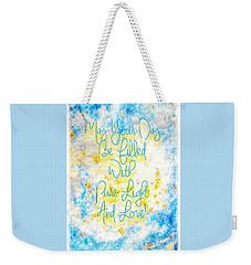 Light And Love Weekender Tote Bag