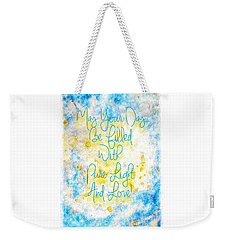 Light And Love Weekender Tote Bag