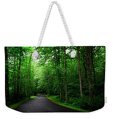 Light And Shadow On A Mountain Road Weekender Tote Bag
