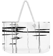 Light And Shadow Reeds Abstract Weekender Tote Bag