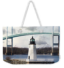 Weekender Tote Bag featuring the photograph Light At Goat Island by Robin-Lee Vieira