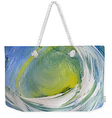 Weekender Tote Bag featuring the painting Light At The End by Fred Wilson