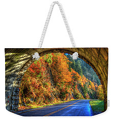 Weekender Tote Bag featuring the photograph Light At The End Of The Tunnel Blue Ridge Parkway Art by Reid Callaway