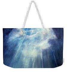Weekender Tote Bag featuring the painting Light Beams by Allison Ashton