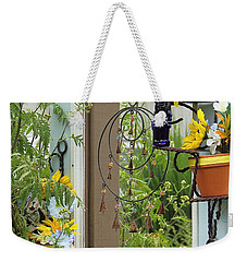 Light Blue Door Planter Weekender Tote Bag