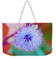 Light Blue Puff Explosion Weekender Tote Bag by Samantha Thome