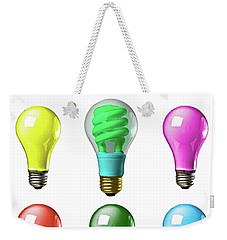 Light Bulbs Of A Different Color Weekender Tote Bag by Bob Orsillo