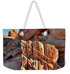 Light Creeps In At Valley Of Fire State Park Weekender Tote Bag