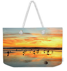 Weekender Tote Bag featuring the photograph Light Dance North County by John F Tsumas