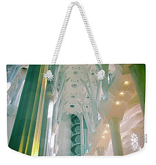 Weekender Tote Bag featuring the photograph Light Dancing On The Ceiling by Christin Brodie