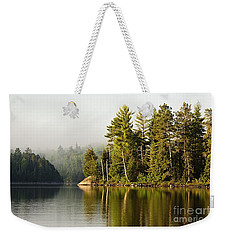 Light Fog On Slim Lake Weekender Tote Bag