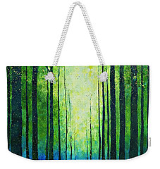 Light From Green Weekender Tote Bag