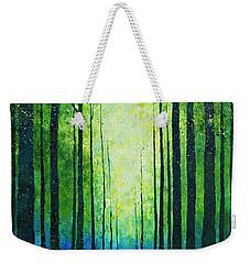 Light From Green Weekender Tote Bag