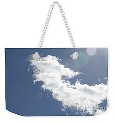 Light In Cloud Flare Weekender Tote Bag