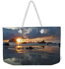 Weekender Tote Bag featuring the photograph Light In The Dark by Patricia Davidson