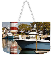 Light In The Harbor Weekender Tote Bag by Kay Lovingood