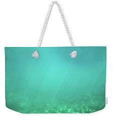 Weekender Tote Bag featuring the photograph Light In The Water by Francesca Mackenney