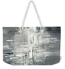 Weekender Tote Bag featuring the painting Light Into The Darkness by Tatiana Iliina
