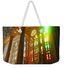 Weekender Tote Bag featuring the photograph Light Of Gaudi by Christin Brodie