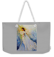 Light Of Grace,angel Weekender Tote Bag
