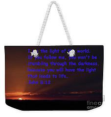 Light Of Life Weekender Tote Bag
