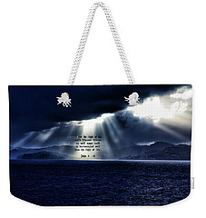 Light Of The World Weekender Tote Bag by Dennis Baswell