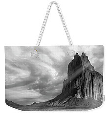 Light On Shiprock Weekender Tote Bag