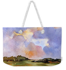 Light Over The Hills Weekender Tote Bag by Rae Andrews