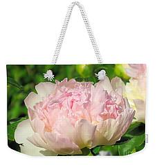 Light Pink Peony Weekender Tote Bag