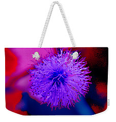 Light Purple Puff Explosion Weekender Tote Bag by Samantha Thome