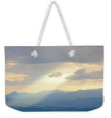 Light Ray Sunset Weekender Tote Bag by Meta Gatschenberger