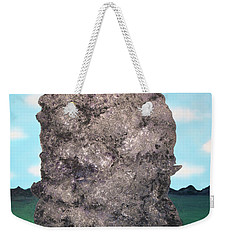 Weekender Tote Bag featuring the painting Light Rock by Thomas Blood