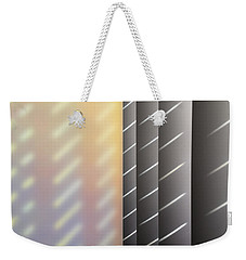 Light Through Slats Through Screen Through Blinds Weekender Tote Bag by Stan  Magnan