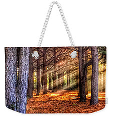 Weekender Tote Bag featuring the photograph Light Thru The Trees by Sumoflam Photography
