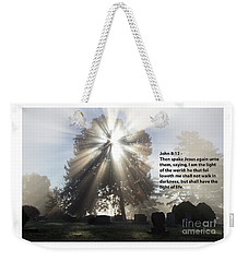 Weekender Tote Bag featuring the photograph Light Verse by Tara Lynn