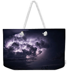 Lightening At Night Weekender Tote Bag