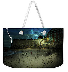 Lightening Over Ste. Malo Weekender Tote Bag