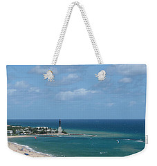 Lighthouse And Kiteboarding Weekender Tote Bag