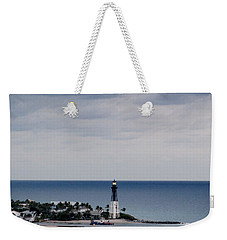Lighthouse And Rain Clouds Weekender Tote Bag