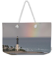 Lighthouse And Rainbow Weekender Tote Bag