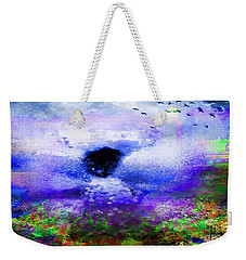 Lighthouse Angel Purple In Hotty Totty Style Weekender Tote Bag